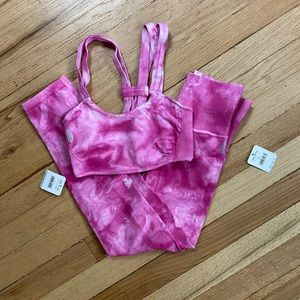 Free People Pants & Jumpsuits - W/tag FP Movement Tie-Dye good karma set